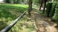 اجرای عملیات لوله گذاری آبرسانی آب خام فضای سبز منطقه 3