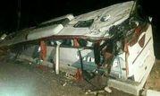 واژگونی مرگبار اتوبوس «مشهد _ بندرعباس» در بردسیر