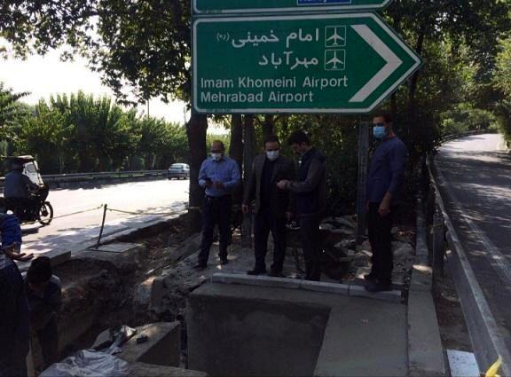 رفع نقطه آبگیر بزرگراه شهید مدرس تقاطع شهید همت غرب در منطقه سه