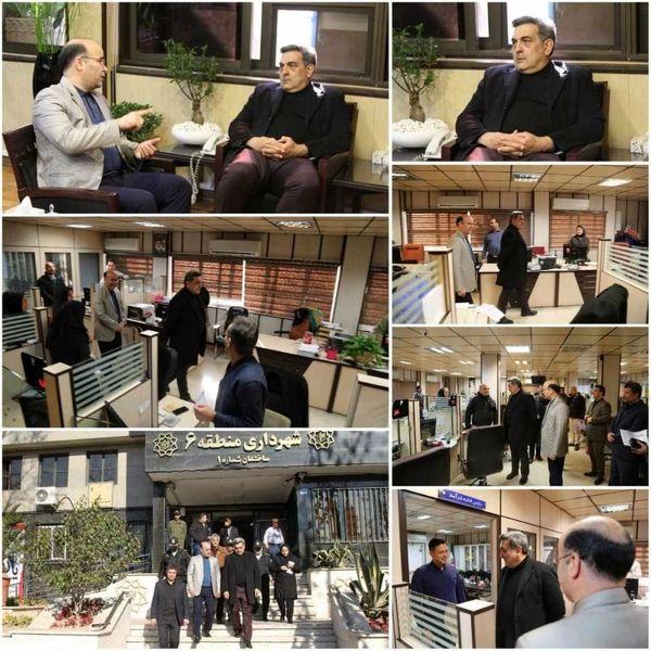 بازدید سرزده شهردار تهران از منطقه شش