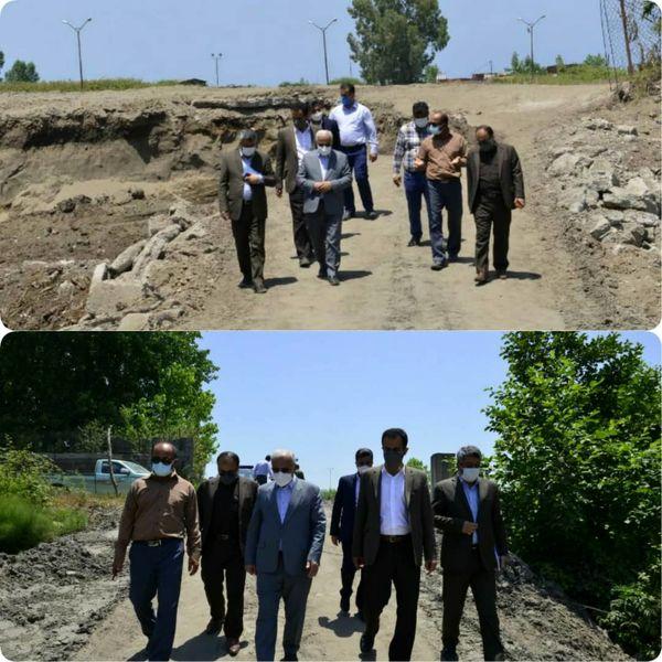بازدید مدیرعامل سازمان منطقه آزاد انزلی از پروژه ملی راه آهن