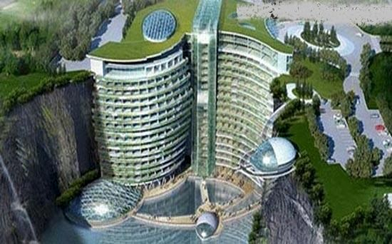 بزرگترین هتل دنیا درون یک گودال!+عکس