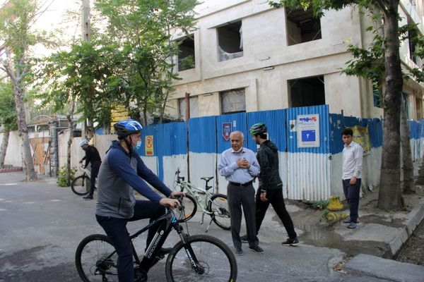 بازسازی و مناسب سازی مسیر و ایستگاه های دوچرخه سواری شمال شرق تهران