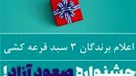 اعلام برندگان قرعه جشنواره صعود آزاد باشگاه مشتریان بانک ایران زمین