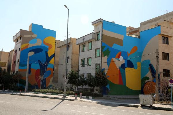 نقاشی های دیواری در محله های تاریخی و قدیمی شهر تهران