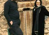 تیپ عجیب بهاره رهنما در کنار همسرش+عکس