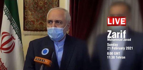 محمدجواد ظریف «رو در رو »با مرضیه هاشمی در شبکه پرس تی وی