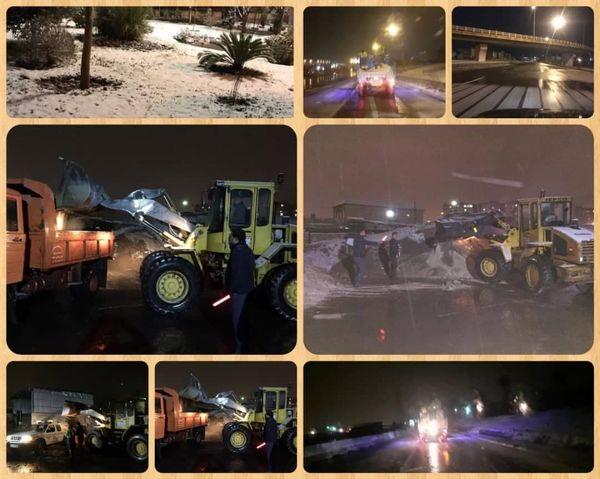 وضعیت مطلوب معابر منطقه 15 در بارندگی های شب و روز گذشته
