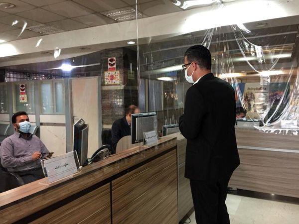 استقرار میز خدمت  در ساختمان های شهرداری منطقه 3 تهران