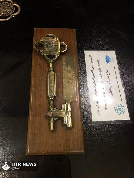 کلید شهر لس آنجلس در موزه شهرداری برج میلاد+عکس