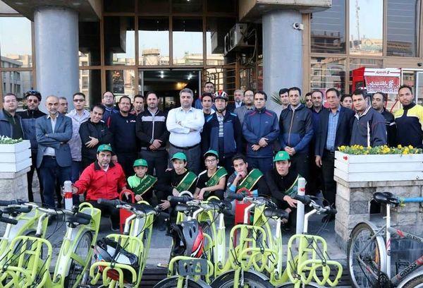 دوچرخه سواری شهرداران مناطق9 ،10 ومدرسه