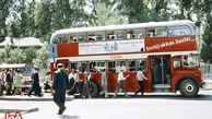 صف اتوبوس شرکت واحد در زمان پهلوی +عکس