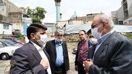 بازدید شهردار منطقه یک از طرح توسعه امامزاده صالح (ع)
