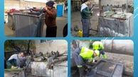 بهسازی و مرمت 450 مخزن زباله در ناحیه یک منطقه 15