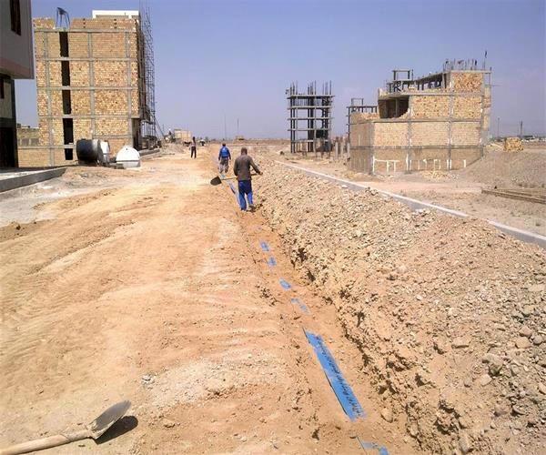 اتصال دو شهرک مسکونی به شبکه آب شهری در قرچک