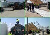 برپایی چادرهای اسکان شبانه برای زوار اربعین حسینی