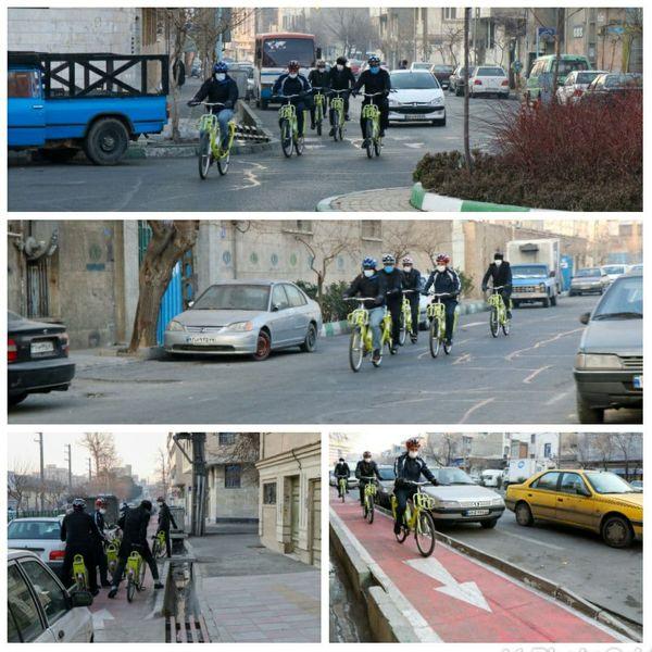 پیمایش محلات ناحیه ۲ با دوچرخه توسط مدیران شهری منطقه۹