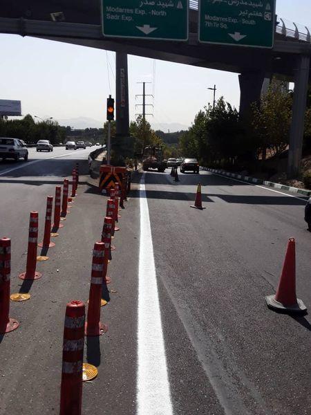 ایمن سازی نقاط حادثه خیز تقاطع بزرگراههای همت به مدرس