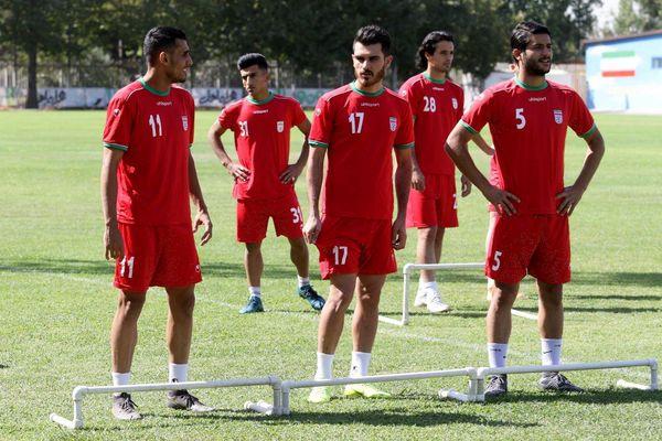 تمرین پرفشار بازیکنان تیم امید در سونگلا