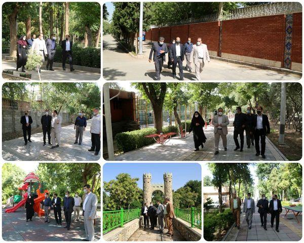 بازدید شهردار منطقه ۱۵ از نگهداشت بوستان های منطقه