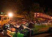 تصادف مرگبار ۲ «نیسان آبی» در اتوبان ساوه + تصاویر