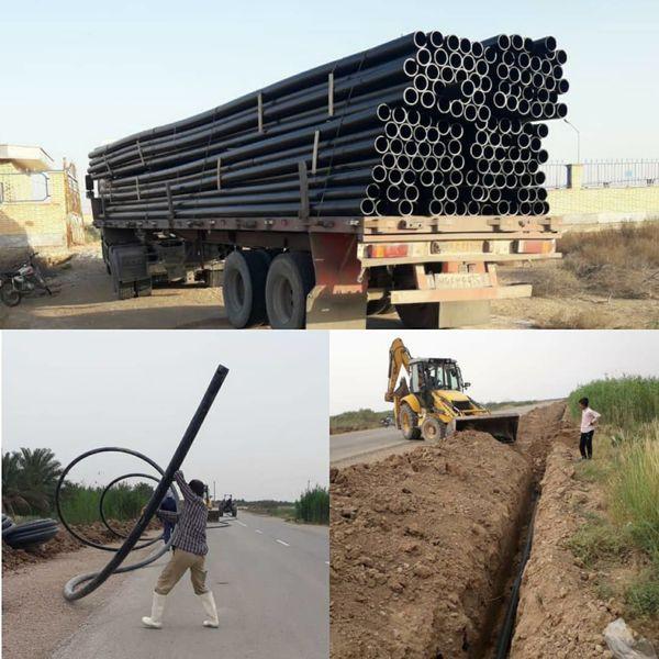 انتقال آب آشامیدنی به تعدادی از روستاهای شهرستان بندرماهشهر