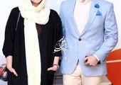 اشکان خطیبی درکنار همسر بازیگرش در آسانسور +عکس