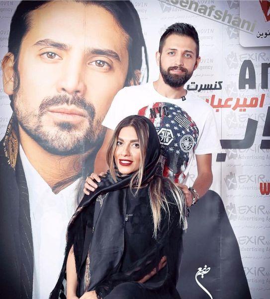 محسن افشانی و خانواده در کنسرت امیرعباس گلاب+عکس