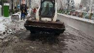 استقرار 222 دستگاه ماشین آلات خدمات شهری در سایت های برف روبی مناطق 22گانه
