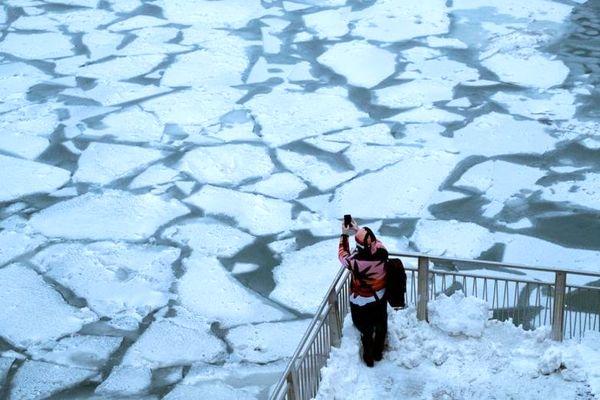 چالش شلوار یخ زده در آمریکا +عکس