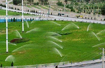 توسعه شبکه آبیاری فضای سبز در منطقه2 تهران