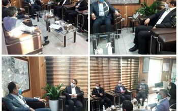 نشست صمیمی رجب زاده شهردار منطقه۲۱ با محمدی مدیرعامل فروشگاه های زنجیره ای رفاه