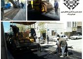 پخش و توزیع 197 تن آسفالت در خیابان اسلام، کوی امام علی(ع)