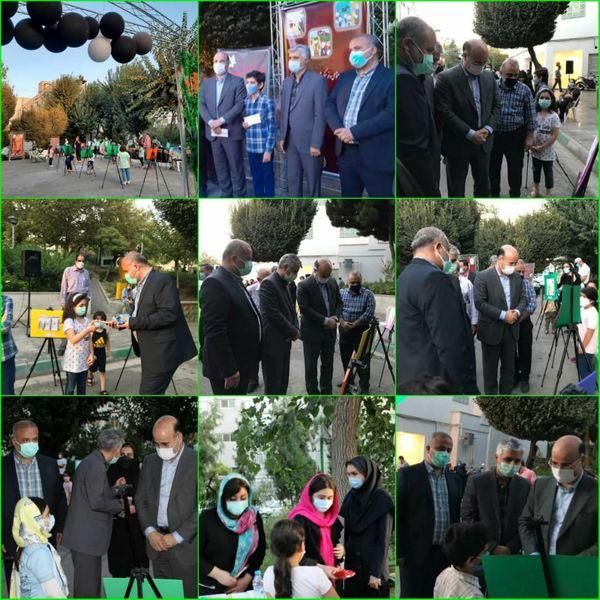 مراسم اختتامیه نمایشگاه نقاشی عاشورایی در قلب پایتخت برگزار شد