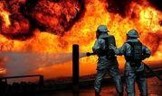 آتش گرفتن پراید پس از تصادف با درخت +تصاویر