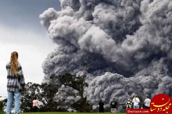 آتشفشانی با مواد مذاب آبی رنگ! + عکس