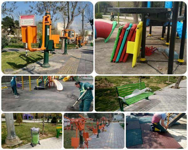 تجهیز بوستانهای منطقه 15 به وسایل بازی کودکان