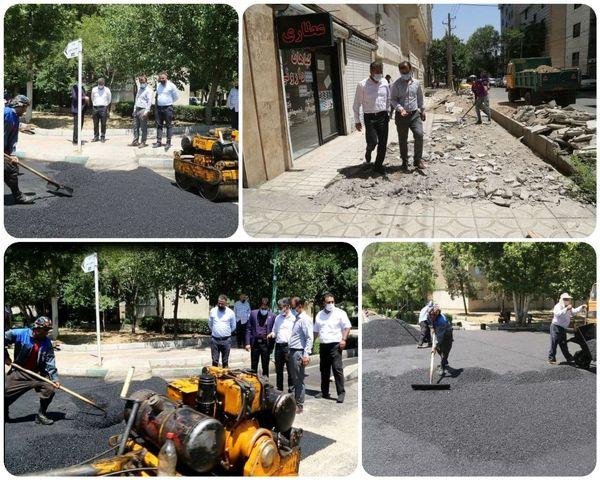 توزیع بیش از  2500 تن آسفالت برای بهسازی معابر منطقه 15